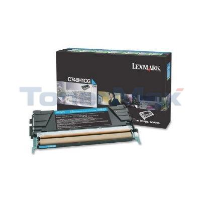 LEXMARK C748 TONER CARTRIDGE CYAN RP HY